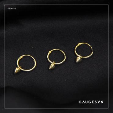 Thai silver gold plated fall tip piercings
