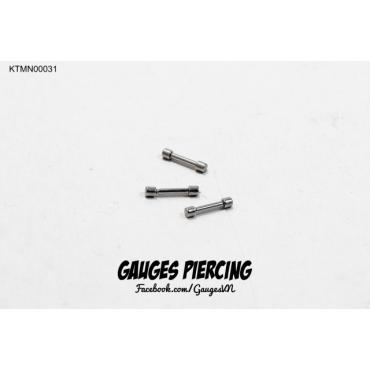 Weightlifting 0.5mm mini straight piercings