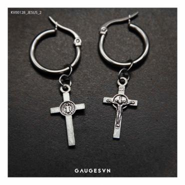 cross jesus ear ring 2
