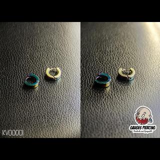 Metal color ring earrings