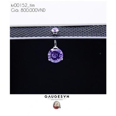 Pierced rhinestones cut SWA purple stone