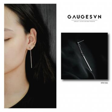 long bar chain earring