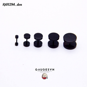 Hot black round 12mm