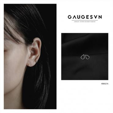 Thai silver earrings droplets