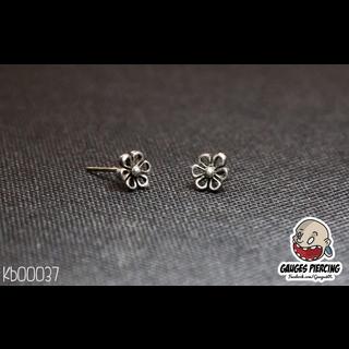 Big Flower thailand silver earrings