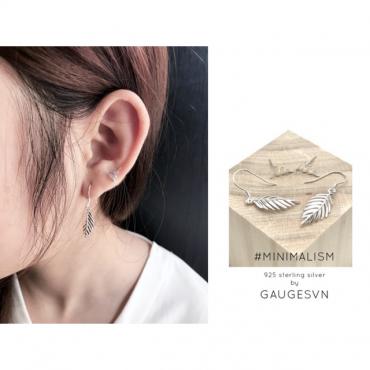 Silver ear-shaped earrings