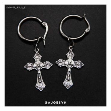 cross jesus ear ring 1