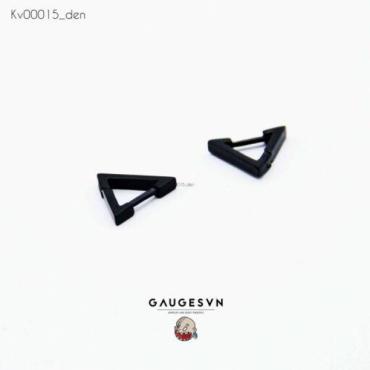 black triangle ear ring