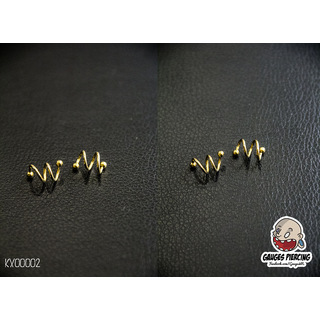 2 rounds gold helix earrings