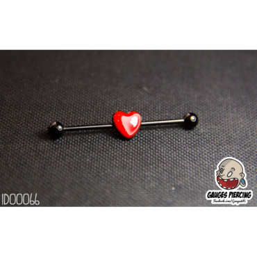 Indus red heart black