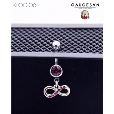 Status infinity purple navel piercings