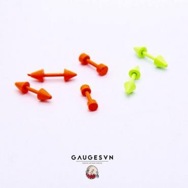 Weightlifting orange earrings 3mm