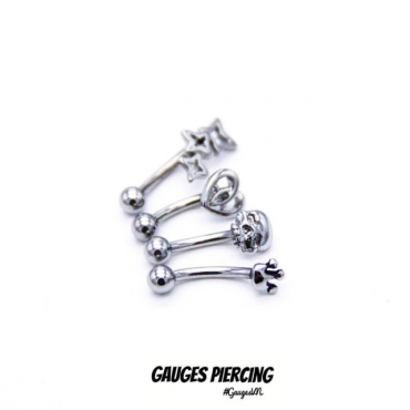 Piercing curved hollow Thailand 3 stars