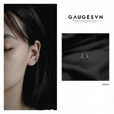 Thai silver earrings the triangle