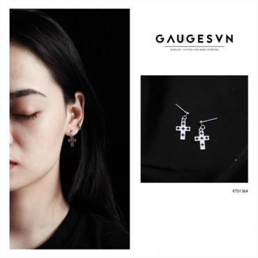cross stainless steel earring
