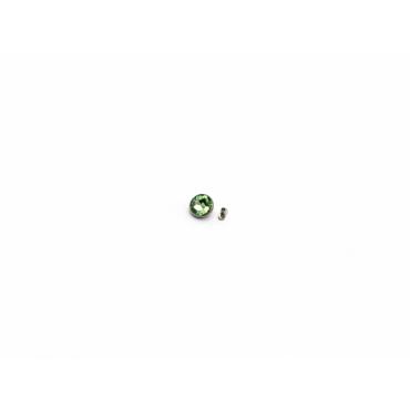 TITANIUM dermal piercings Thailand Green 8mm Silve