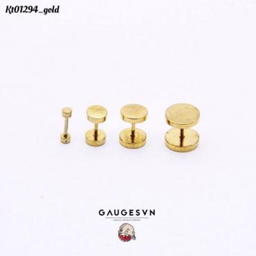 Hot gold round 8mm
