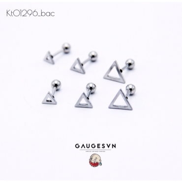 Recommend hollow silver triangle