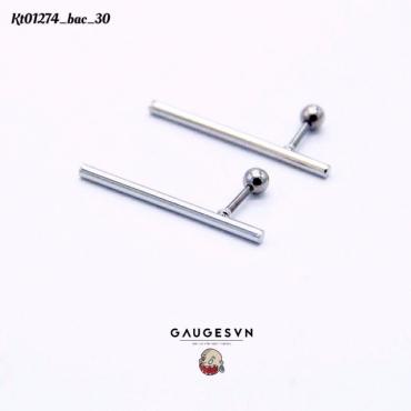 30mm siver horizontal bars