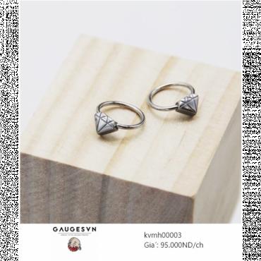 Piercing earrings diamond face