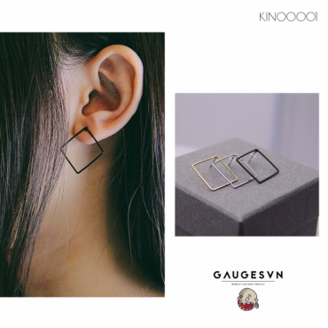 Square stainless steel piercings gold