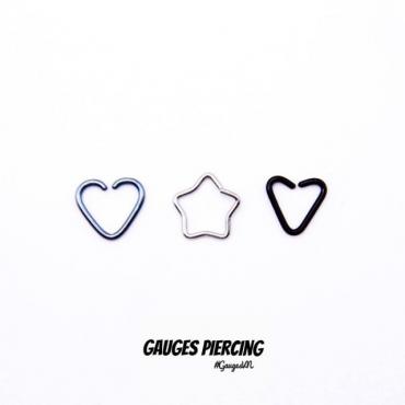 Small silver star earrings