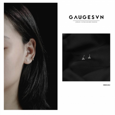 Thai silver earrings triangle