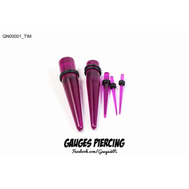 Violet lucent stretching taper