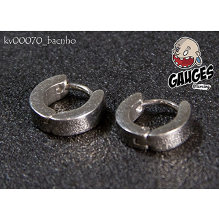 Silver small ring earrings