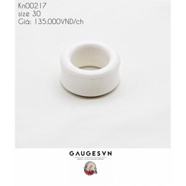 White plastic hollow resin