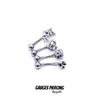 Thailand curved piercing skull