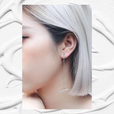 Round bar horizontal ear ring