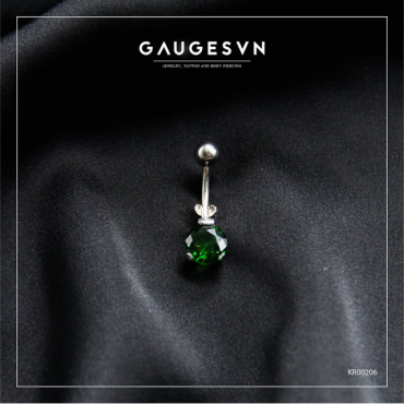 Round green SWA stainless steel navel curves
