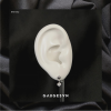 straight earrings fall white stone mini