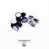 Earrings black vignette mini spin