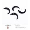 Magnetic ear curls black curling rods