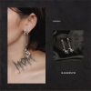 Earrings with metal earrings fall